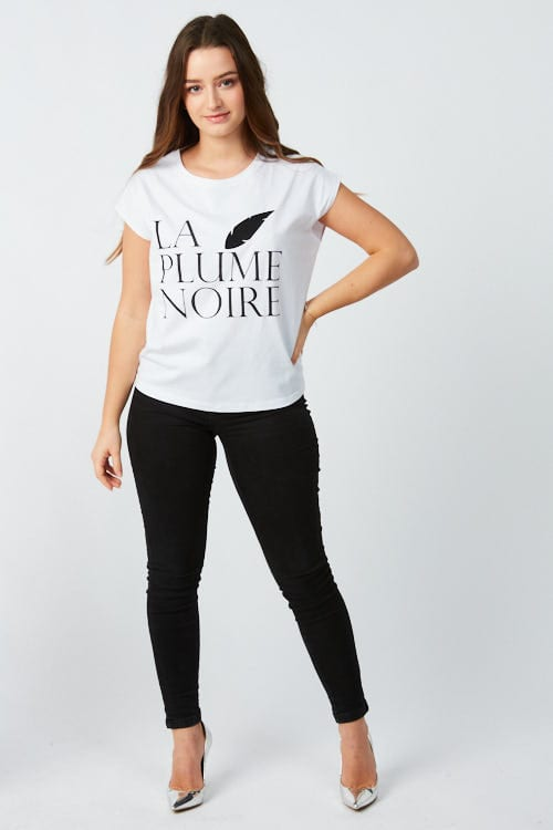 T Shirt Femme Serigraphie Et Plume Brodee Shop The Look